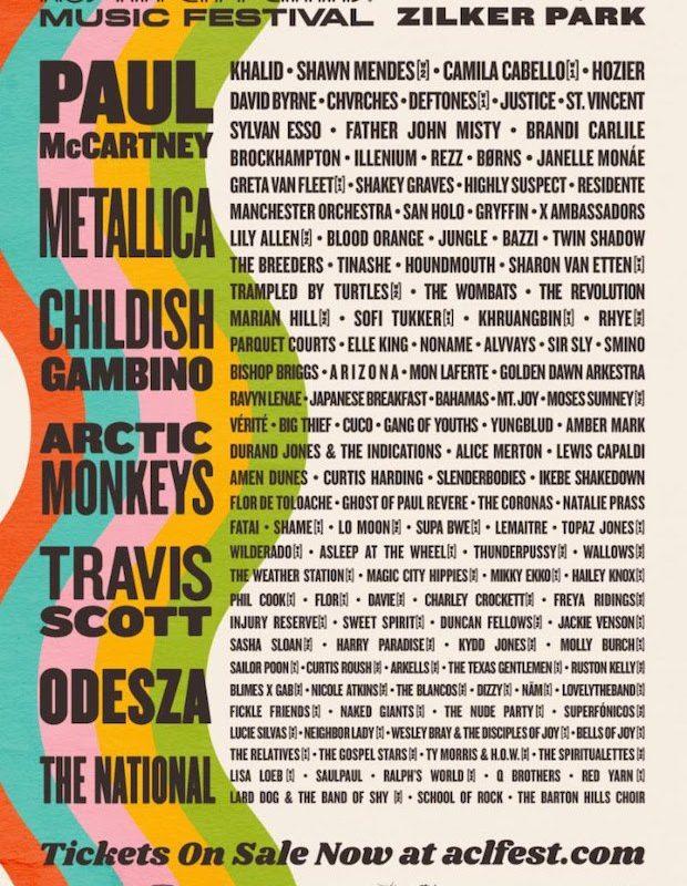 Austin City Limits da a conocer su cartel 2018
