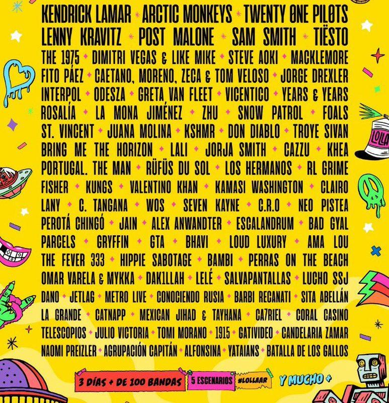 Revelan el lineup del Lollapalooza Argentina 2019